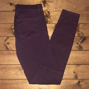 GAP Vamp Red Purple Legging  Skinny Jeans Size 27t
